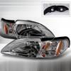Spec-D Headlights - Ford Mustang 94-98